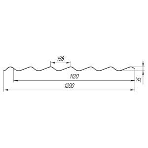 Металлочерепица Классик 0.40 Глянец (Китай)